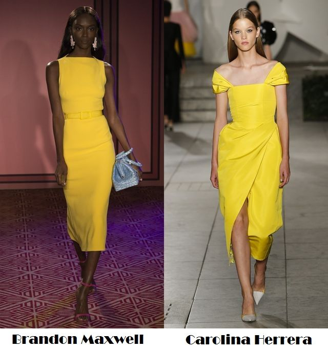 Yellow for spring summer 2018 fashion trends