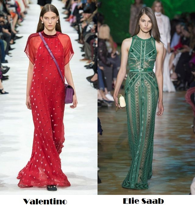 Red and green for spring summer 2018 fashion trends