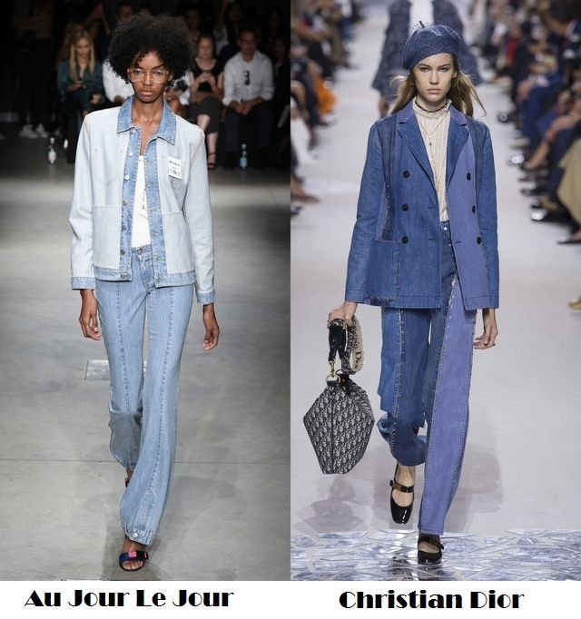 Denim suits with trousers