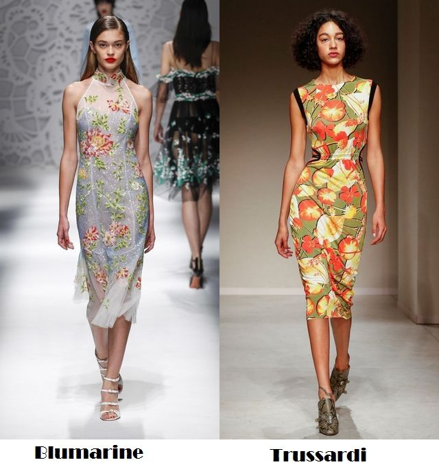 Dresses with flower prints for the spring/summer 2018 fashion