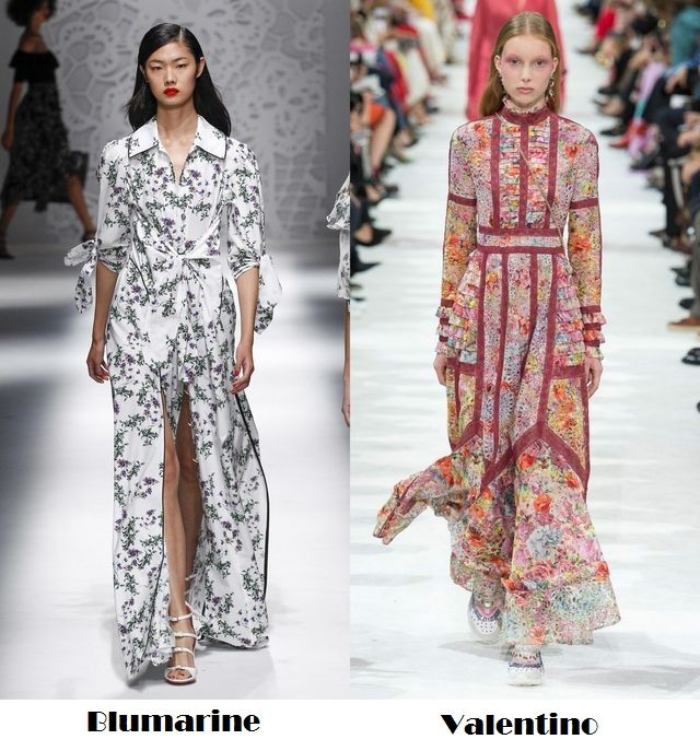Flowers for the spring/summer 2018 fashion