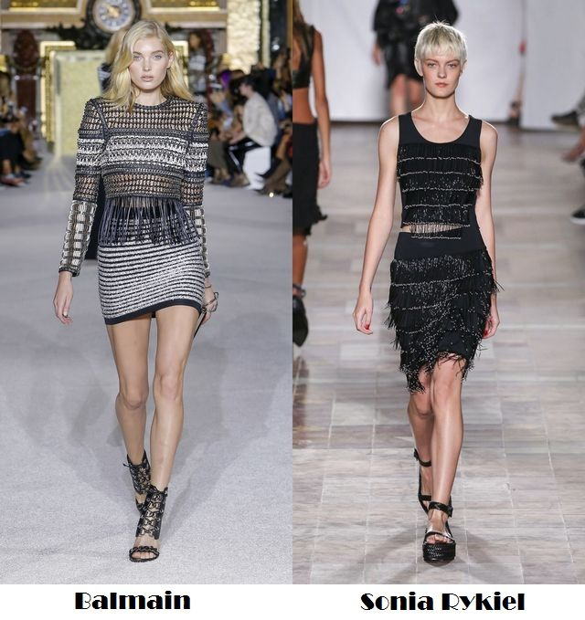 Spring Summer 2018 fashion trends: dresses with fringes