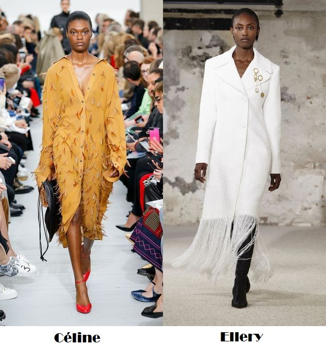 Spring Summer 2018 fashion trends: long coats with fringes