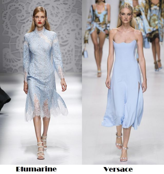 Blue for spring summer 2018 fashion trends