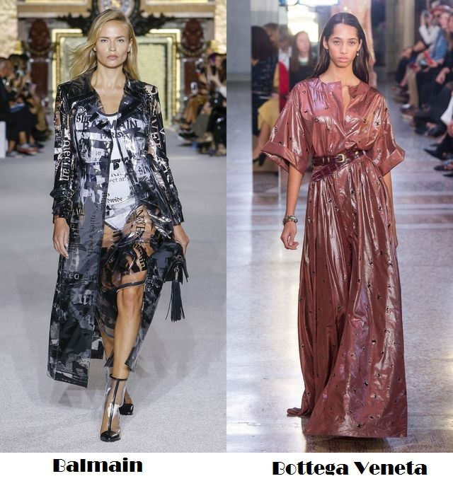 Plastic clothes one trend to follow this season