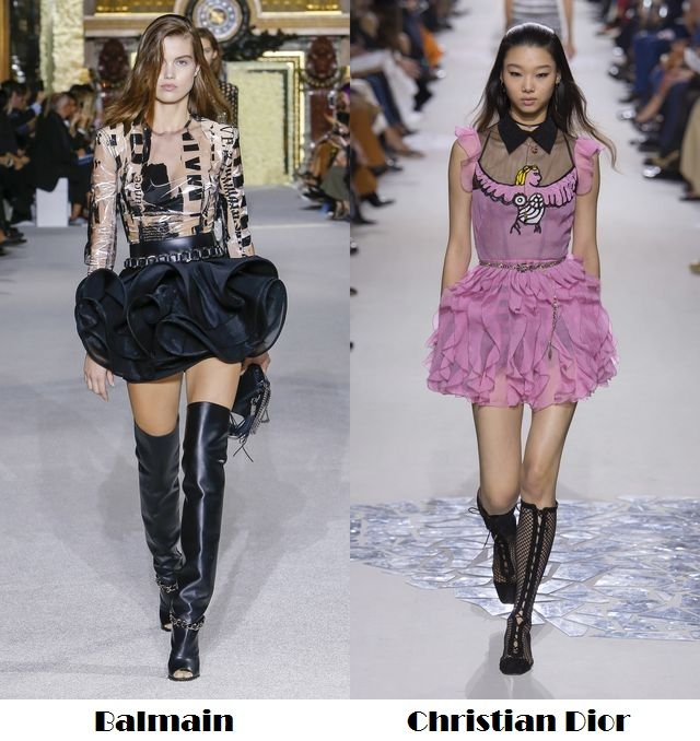 Ruffles for spring summer 2018 fashion trends