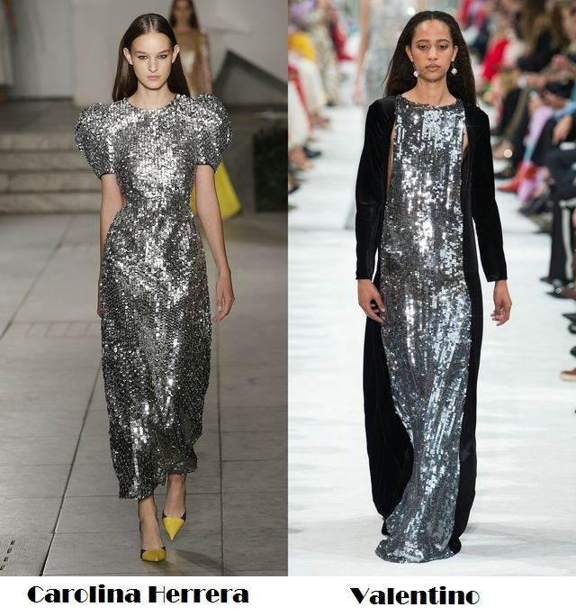 Glittery for spring summer 2018 fashion trends