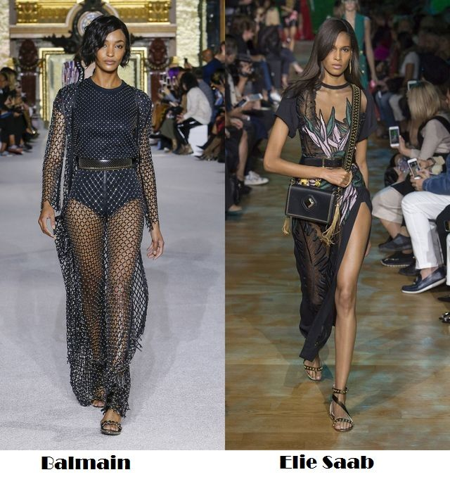 Black transparency for spring summer 2018 fashion trends