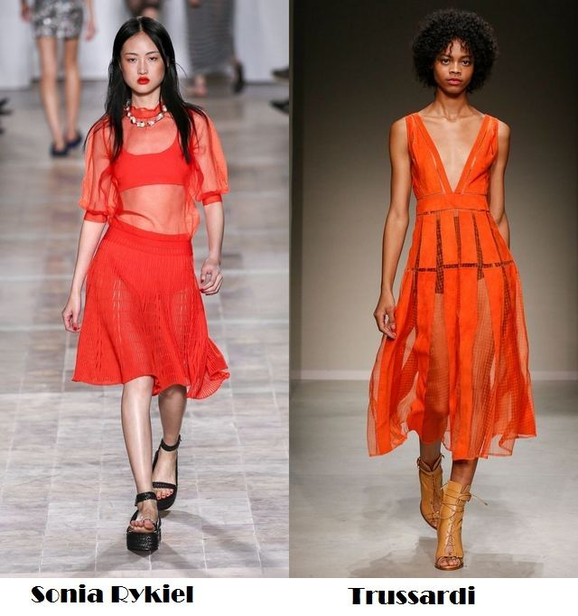Transparency for spring summer 2018 fashion trends