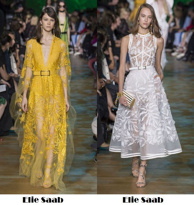 Beautiful and transparent clothes for spring summer 2018 fashion trends
