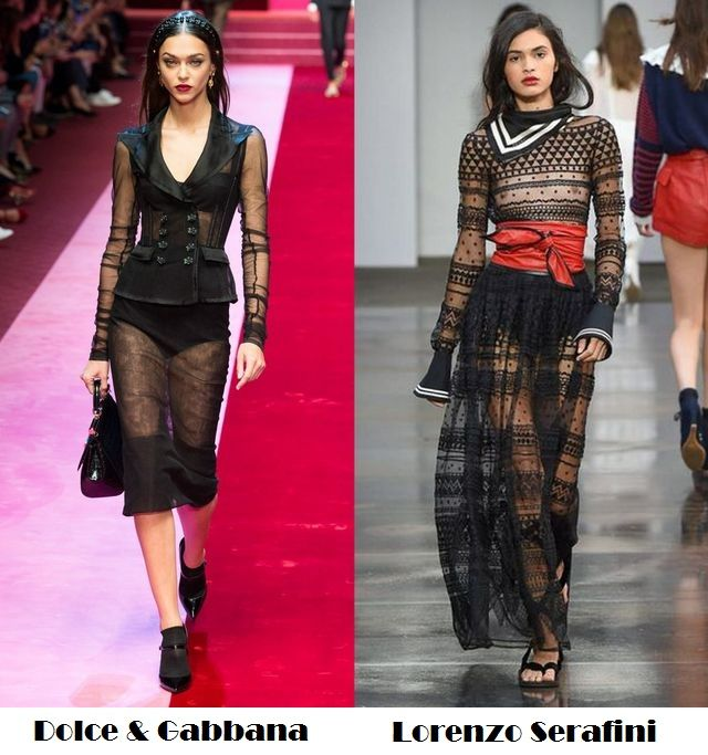 Transparent clothes for spring summer 2018 fashion trends
