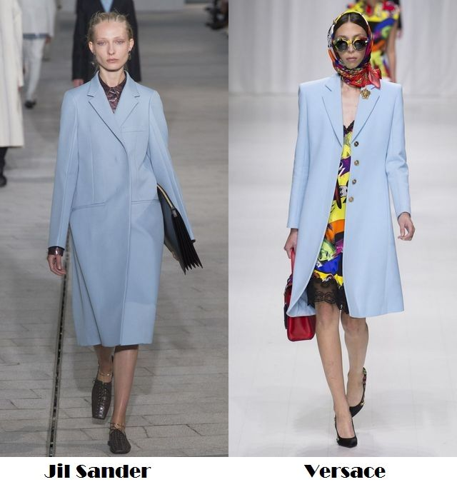 Spring Summer 2018 fashion trends: blues trench coats