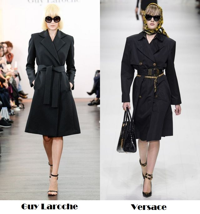 Spring Summer 2018 fashion trends: black trench coats