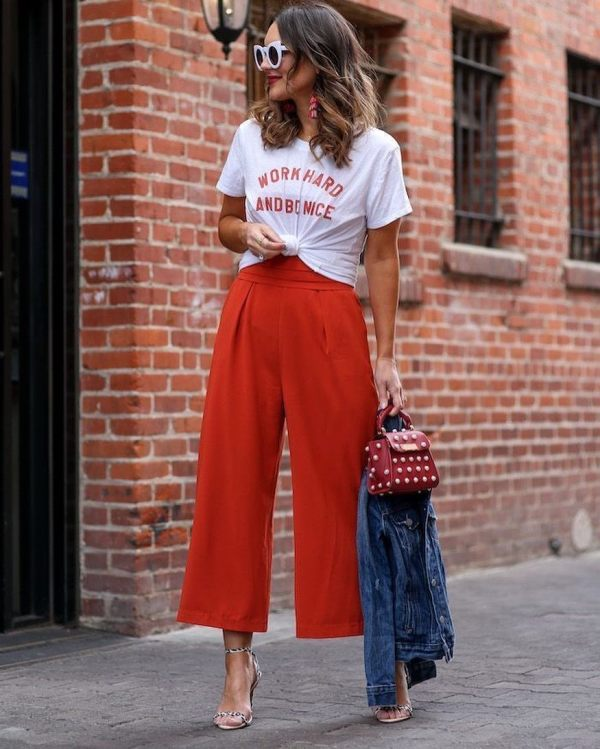 How to wear culottes for petite