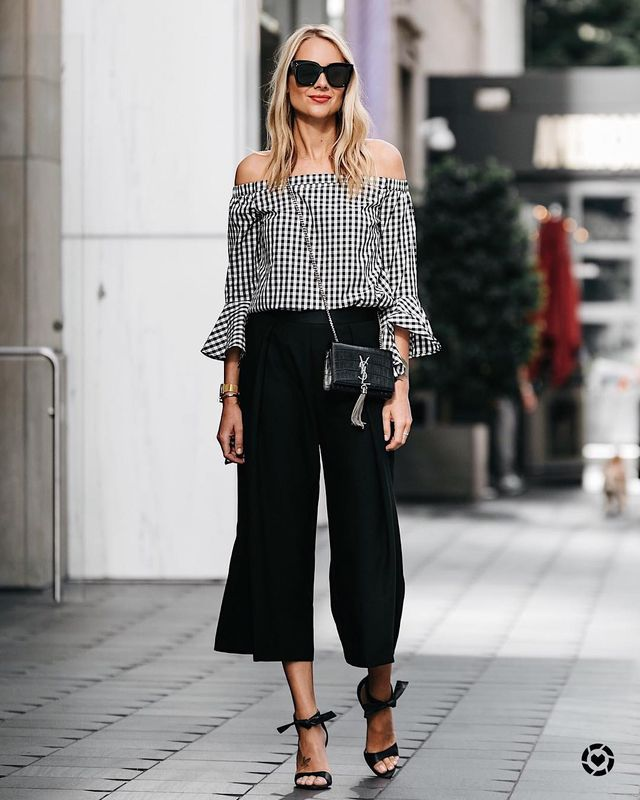 What to wear with culotte pants