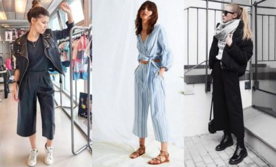 How To Wear Culottes With Flats