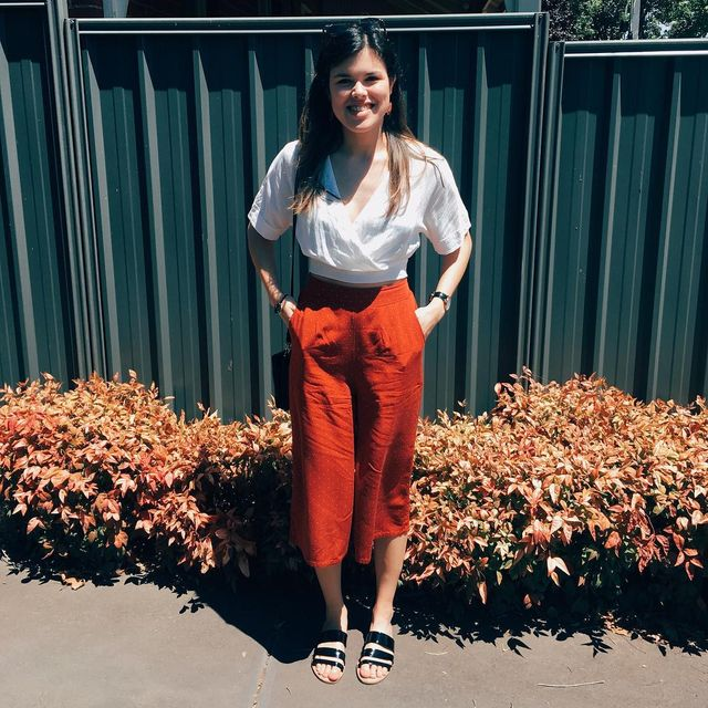 40a1a6221142 Best 37 Ideas About How To Wear Culottes With Flats - GlossyU