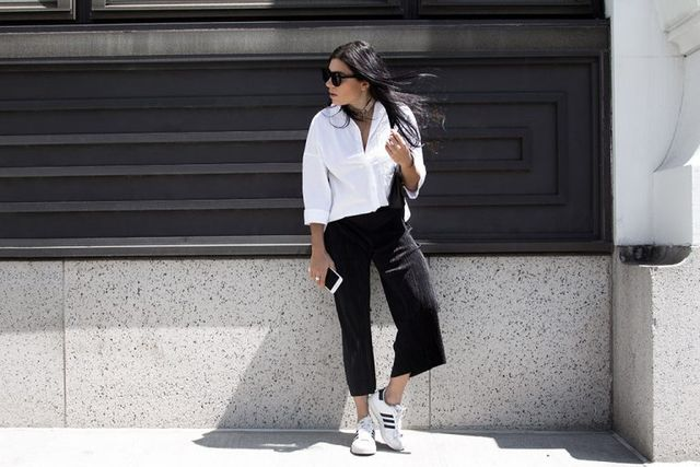 How to wear culottes pants casually
