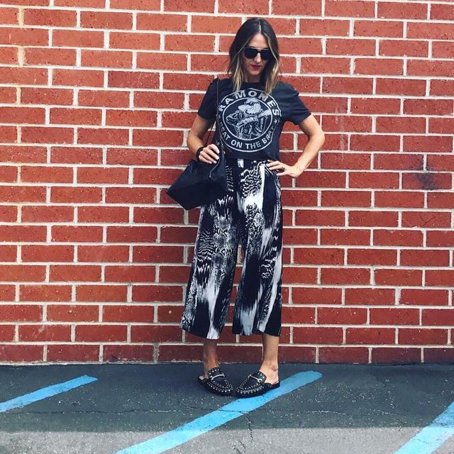 Culottes outfits with flip flops