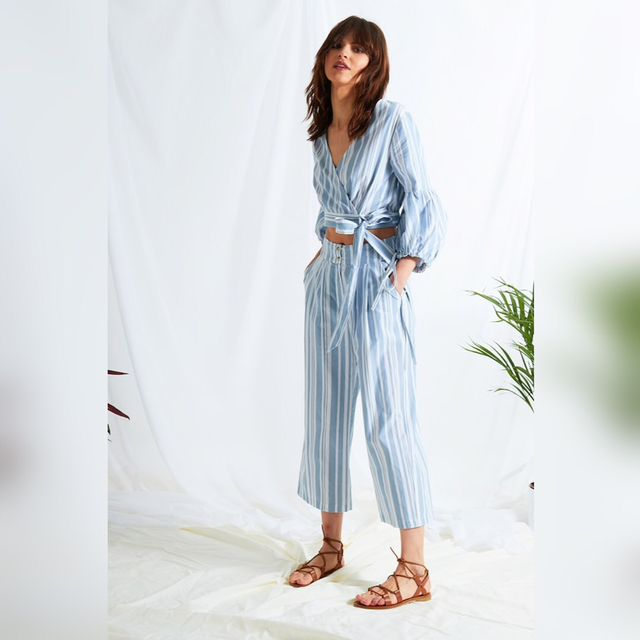 How to wear culottes with flat sandals