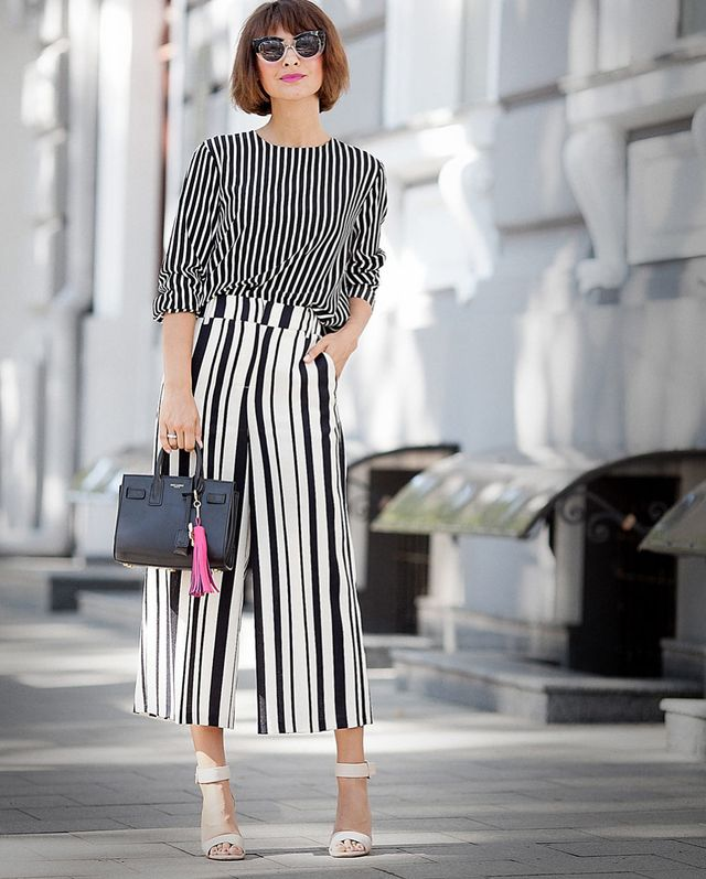 Wear a blouse with vertical stripes