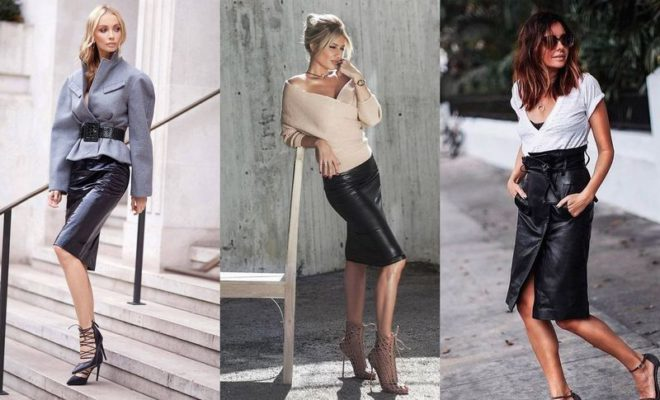 342b566e01 40 Leather Pencil Skirt Outfit Ideas That'll Make You Want A Leather Skirt