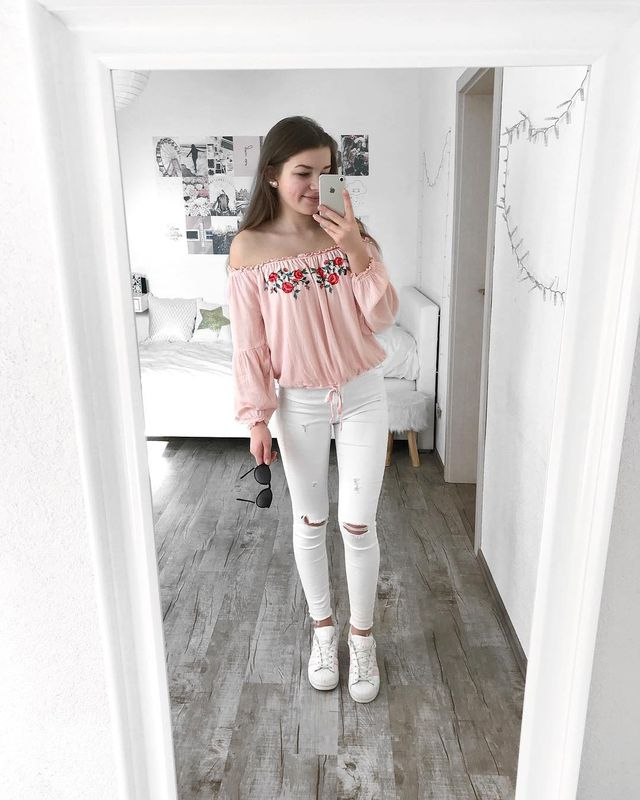 Summer outfits for teenage girl | Summer outfits with white jeans