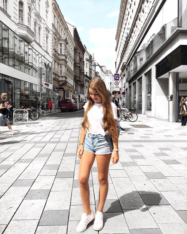 Summer outfits for teenage girl | Outfits with short jeans