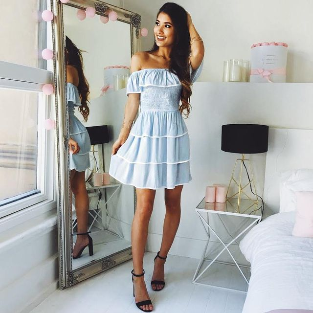 Summer outfits for teenage girl | Summer outfit with a beautiful dress