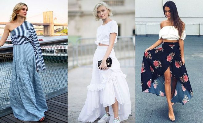 dfee857c75a 22 Long Summer Skirts Outfits You Should Try Now
