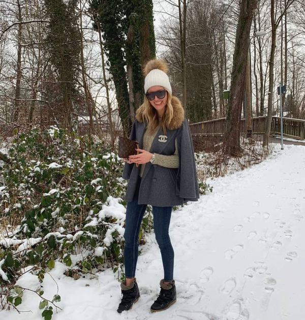 How to wear skinny jeans with boots when is snowing