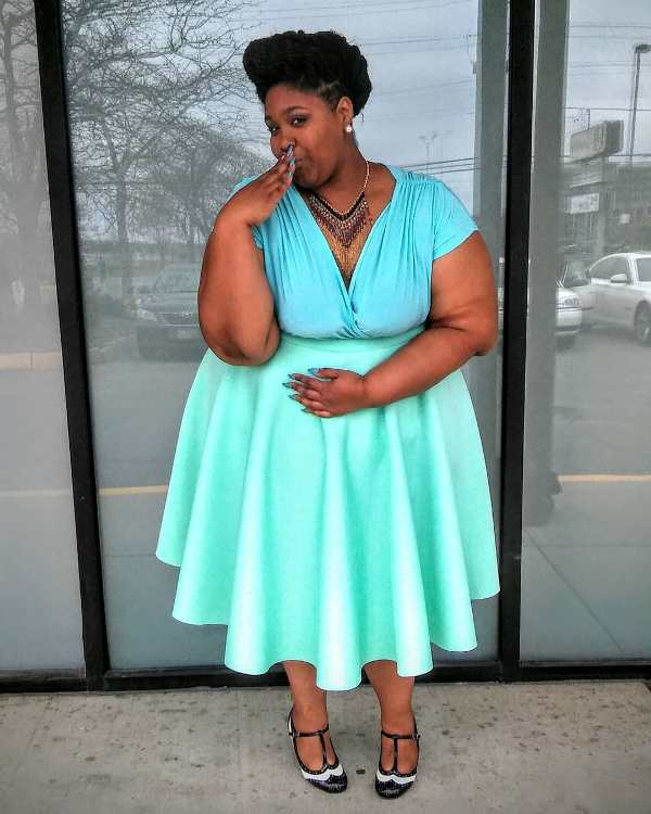 Spring plus size outfit for a party