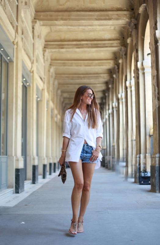 What to wear with denim shorts in summer female