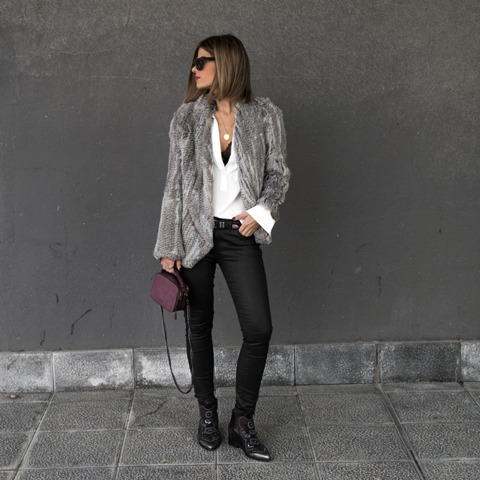 Winter clubbing outfit for women