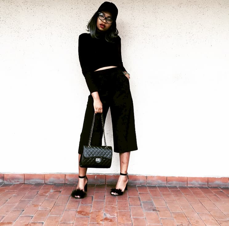 How to style black culottes